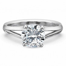 Precision Set New Aire Collection Split Shank Solitiare Engagement Ring