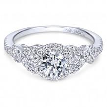 14k White Gold Gabriel & Co. 0.44ct Diamond Engagement Ring