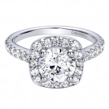 14k White Gold Gabriel & Co. 0.67ct Diamond Engagement Ring