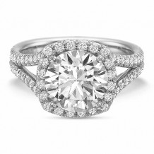 Precision Set Extraordinary Collection Diamond Halo Engagement Ring