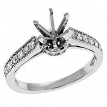 14k White Gold S Kashi & Sons Diamond Semi Mount Engagement Ring