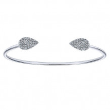 14k White Gold Gabriel & Co. Diamond Bangle Bracelet