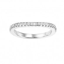 14k White Gold 1/5ct Diamond Wedding Band