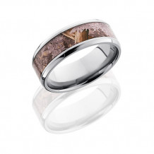 Titanium with Kings Desert Camo Inlay Wedding Band