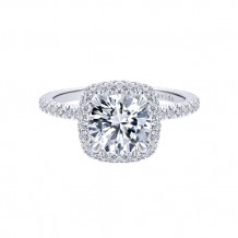 Gabriel & Co 18k White Gold Double Halo Diamond Engagement Ring