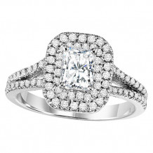 14k White Gold 5/8ct Diamond Engagement Ring with 3/4ct Center Stone