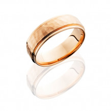 14K Rose Gold 7mm Flat Wedding Band