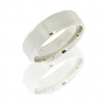 18K White Gold 6mm Flat Wedding Band