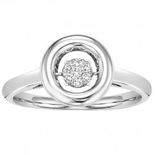 Sterling Silver Diamond Rhythm Of Love Ring