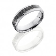 Titanium with 3mm Carbon Fiber Inlay Wedding Band