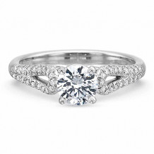 Precision Set New Aire Collection Diamond Shank Engagement Ring