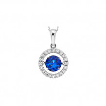 14K White Gold 1ct Tanzanite & Diamond Rhythm Of Love Pendant