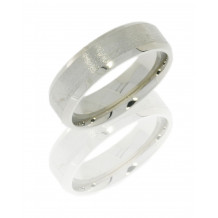 14K White Gold 6mm Flat Wedding Band