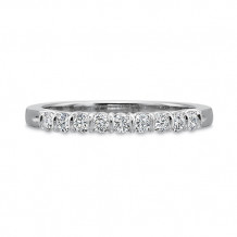Precision Set Classic Collection 14K White Gold Nine Diamond Shared Prong Wedding Band