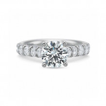 Precision Set Classic Collection 18K White Gold Shared Prong Engagement Ring