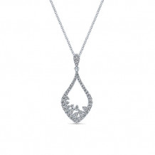 14k White Gold Gabriel & Co. Diamond Fashion Necklace