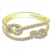 14k Yellow Gold Gabriel & Co. Diamond Fashion Ring