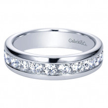 Gabriel & Co 14k White Gold 1.00ct Diamond Wedding Band