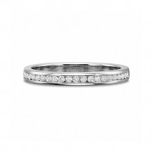 Precision Set Classic Collection 18K White Gold Diamond Channel Set Wedding Band