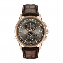 Citizens Eco Drive Stainless Steal World Chronograph A-T