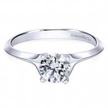 14k White Gold Gabriel & Co. Diamond Engagement Ring