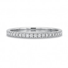 Precision Set New Aire Collection 18K White Gold Prong Set Diamond Wedding Band