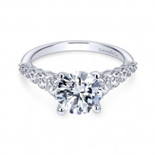 14k White Gold Gabriel & Co. 0.75ct Diamond Engagement Ring