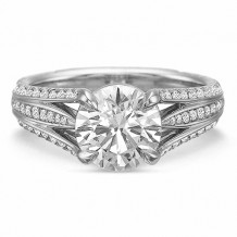 Precision Set Extraordinary Collection Round Diamond Engagement Ring