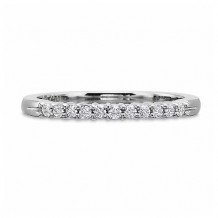 Precision Set Classic Collection 14K White Gold 11 Diamond Shared Prong Wedding Band