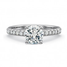 Precision Set New Aire Collection 18K White Gold Shared Prong Engagement Ring