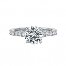 Precision Set Classic Comfort Fit Collection 14K White Gold Diamond Engagement Ring